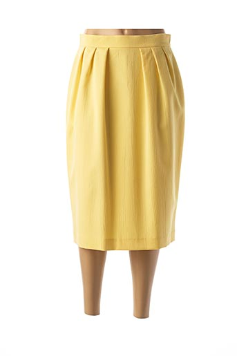Jupe mi-longue jaune CASTILLE pour femme