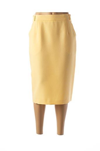 Jupe mi-longue jaune FEDORA pour femme