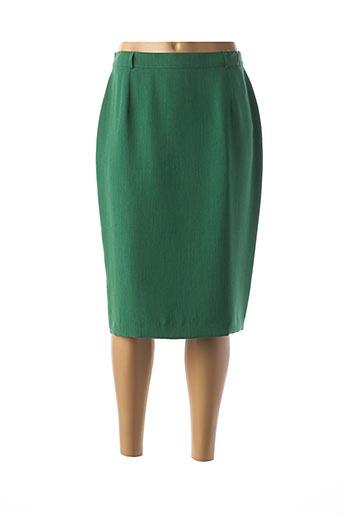 Jupe mi-longue vert FEDORA pour femme