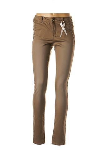 Pantalon casual marron VERO MODA pour femme