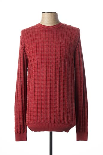 Pull col rond rouge FELLOWS pour homme