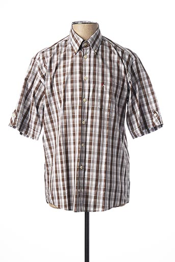 Chemise manches courtes marron JUPITER pour homme