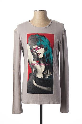 T-shirt manches longues gris ANTONY MORATO pour homme