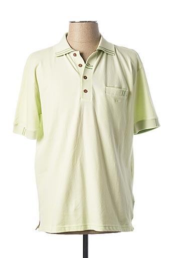 Polo manches courtes vert DELAHAYE pour homme