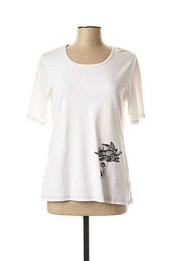 T-shirt manches courtes blanc BRIGITTE SAGET pour femme