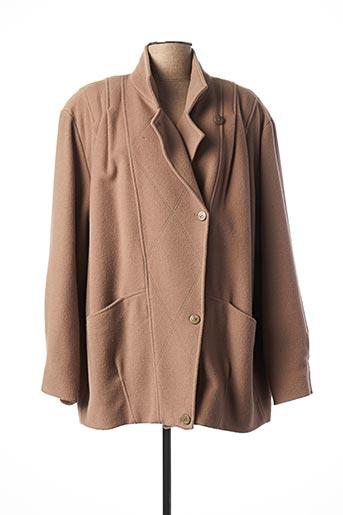Manteau court marron ARIELLE pour femme