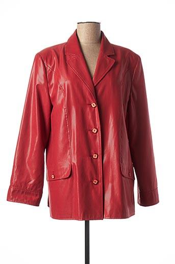 Veste casual rouge ARIELLE pour femme