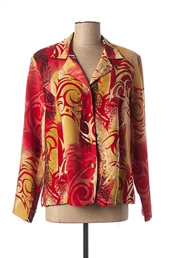 Veste casual rouge CLAUDE DE SAIVRE pour femme