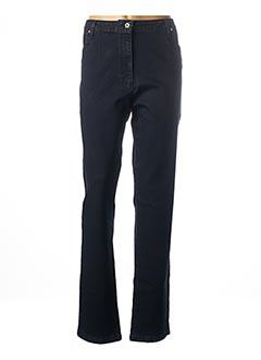 Jeans coupe slim bleu ANNE KELLY pour femme