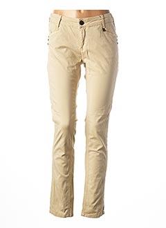Pantalon casual beige ANNA SCOTT pour femme