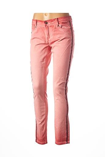 Pantalon casual orange ANNA SCOTT pour femme