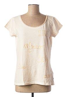 T-shirt manches courtes beige ANNA SCOTT pour femme