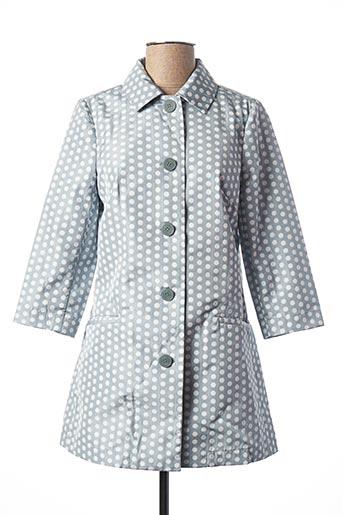Manteau long bleu KOCCA pour femme