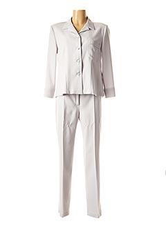 Veste/pantalon gris MARYVET pour femme