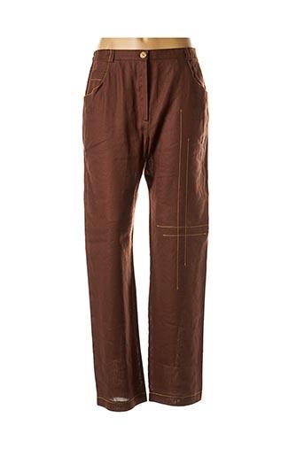 Pantalon chic marron BRIGITTE SAGET pour femme