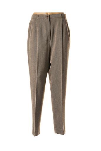 Pantalon chic marron FEDORA pour femme