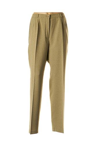 Pantalon chic vert BRIGITTE SAGET pour femme