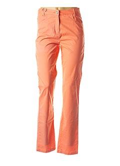Pantalon casual orange THALASSA pour femme