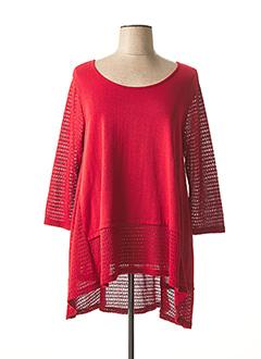 Pull tunique rouge G!OZE pour femme