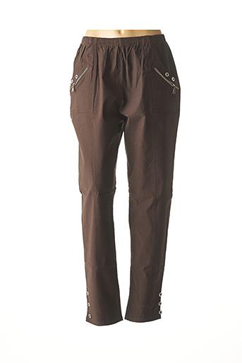 Pantalon casual marron H-3 pour femme