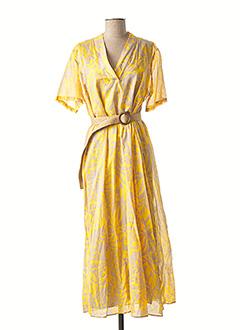 Robe longue jaune DIANA GALLESI pour femme