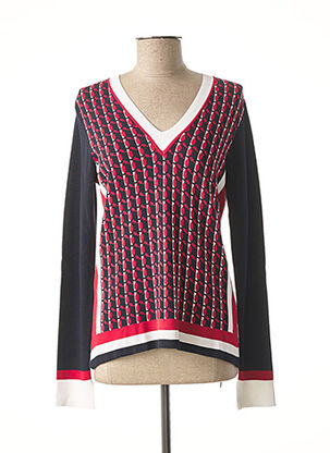Pull col V rouge DIANA GALLESI pour femme