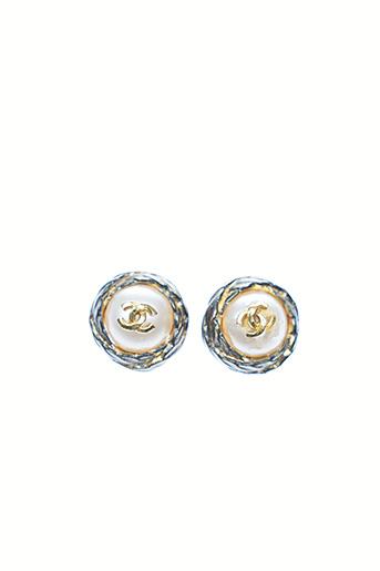 Boucles d'oreilles blanc CHANEL pour femme
