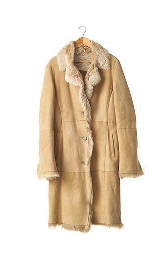 Manteau long beige ANAGRAM pour femme