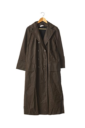 Manteau long marron CLARA COLLINS pour femme