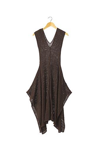 Robe pull marron CORA KEMPERMAN pour femme