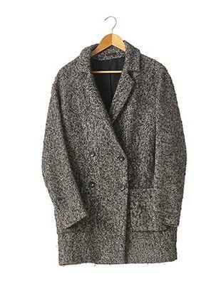 Manteau long noir IKKS pour femme