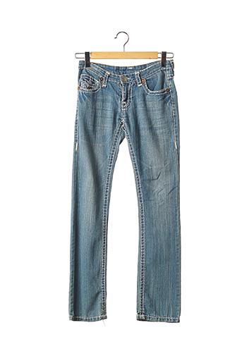 Jeans coupe droite bleu TRUE RELIGION pour femme