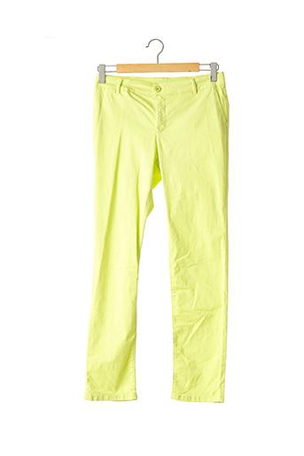 Pantalon casual vert DEVERNOIS pour femme