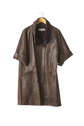 Manteau court marron GERARD DAREL pour femme