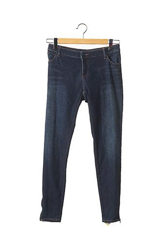 Pantalon 7/8 bleu ARMANI pour femme
