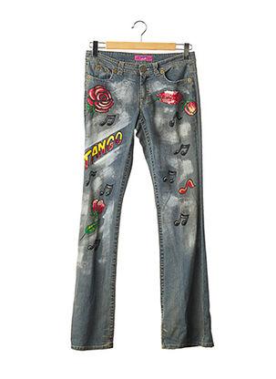 Jeans bootcut bleu ANGELO MARANI pour femme