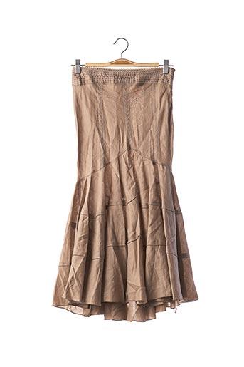 Jupe longue marron OLIVIER STRELLI pour femme