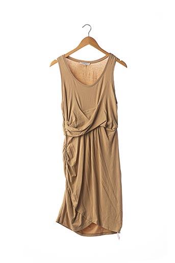 Robe mi-longue beige CARVEN pour femme