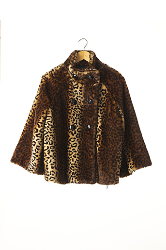 Manteau court marron ATMOSPHERE pour femme