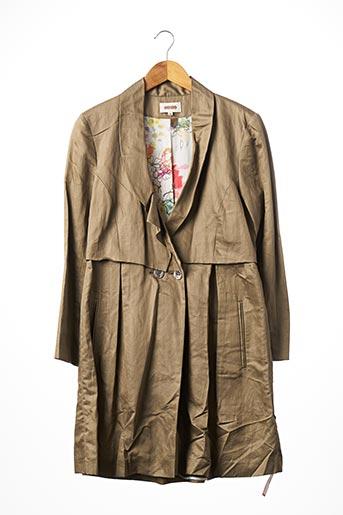 Manteau long beige KENZO pour femme