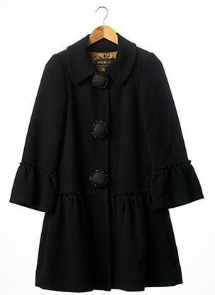 Manteau long noir GEORGES RECH pour femme
