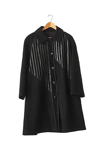 Manteau long noir BALLY pour femme