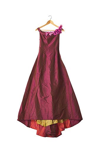 Robe longue violet CORINNE SARRUT pour femme