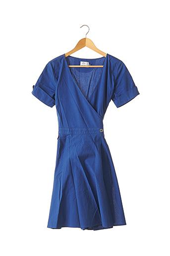 Robe mi-longue bleu ESCALE pour femme