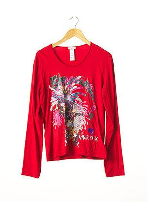 T-shirt manches longues rouge CHRISTIAN LACROIX pour femme