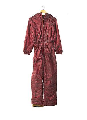 Combi-pantalon rouge POST CARD pour femme