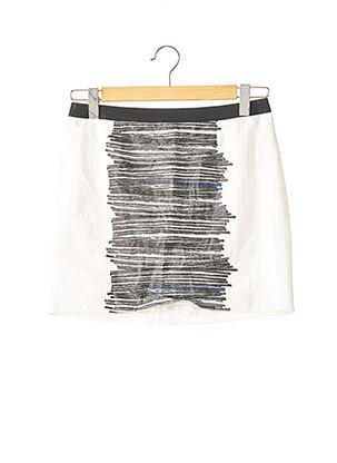 Mini-jupe blanc PAULE KA pour femme