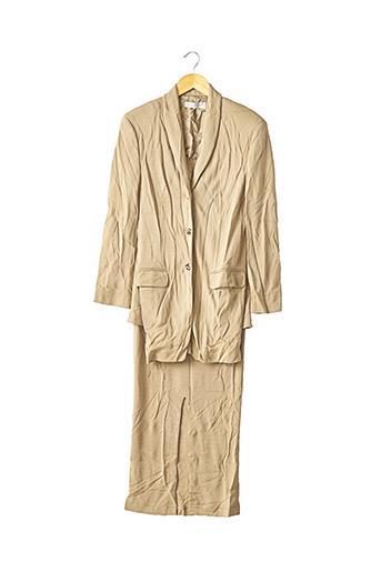 Veste/jupe beige NICOLE FARHI pour femme