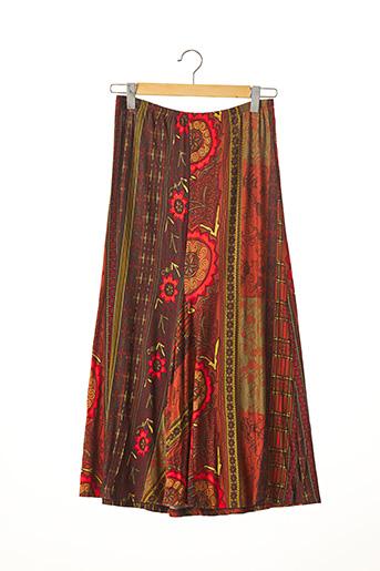 Jupe longue marron CHACOK pour femme