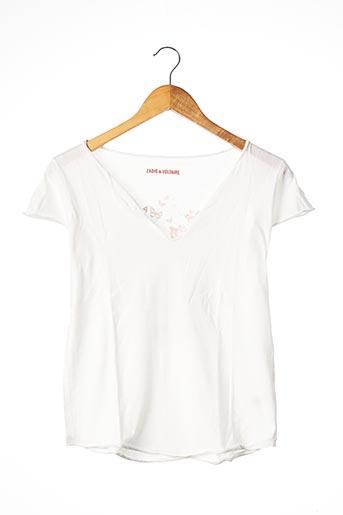 T-shirt manches courtes blanc ZADIG & VOLTAIRE pour femme